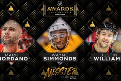 Giordano, Simmonds e Williams disputam o Mark Messier Leadership Award - The Playoffs