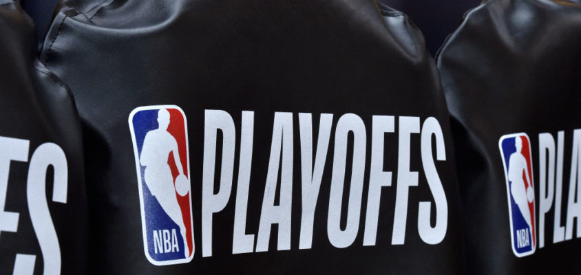 SALT LAKE CITY, UT - MAY 06: General view of the seat covers for each team's bench chairs in Game Four of Round Two of the 2018 NBA Playoffs at Vivint Smart Home Arena on May 6, 2018 in Salt Lake City, Utah. The Houston Rockets played the Utah Jazz