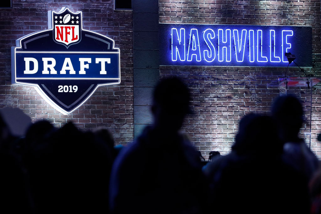 NASHVILLE, TN - APRIL 25: General view during the first round of the NFL Draft on April 25, 2019 in Nashville, Tennessee