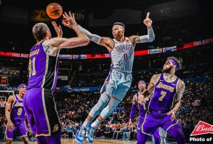 Russell Westbrook atinge marca histórica e Thunder vence Lakers - The Playoffs