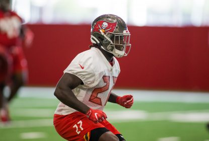 TAMPA, FL - MAY 31: Running Back Ronald Jones II (27) participates in OTAs with the Tampa Bay Buccaneers at the AdventHealth Training Center at One Buccaneer Place on May 31, 2019, in Tampa, Florida