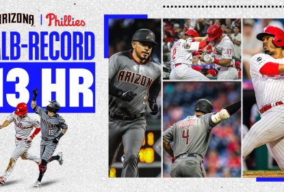 Em dia de recorde de home runs, Diamondbacks vencem Phillies