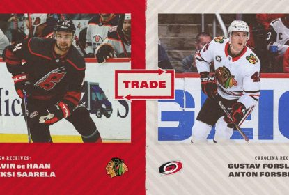 Chicago Blackhawks adquire Calvin de Haan do Carolina Hurricanes - The Playoffs