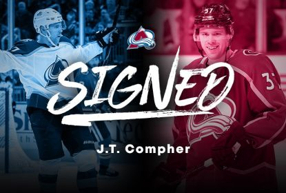 Colorado Avalanche renova contrato de JT Compher por mais 4 anos - The Playoffs