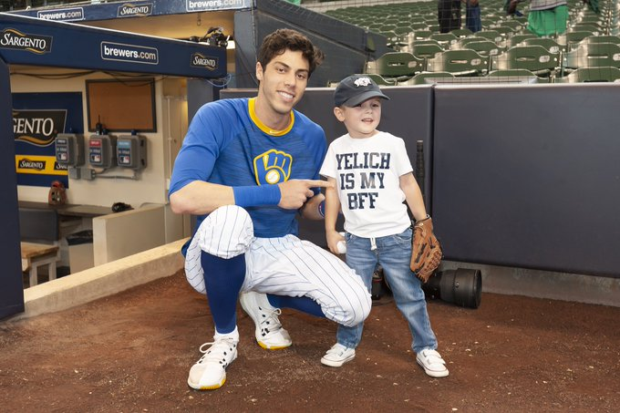 Christian Yelich - Milwaukee Brewers - Chicago Cubs