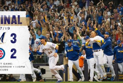 Yelich rebate walk-off dupla e Milwaukee Brewers vence o Chicago Cubs - The Playoffs