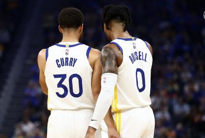 Stephen Curry - D'Angelo Russell - Golden State Warriors - Los Angeles Clippers - NBA