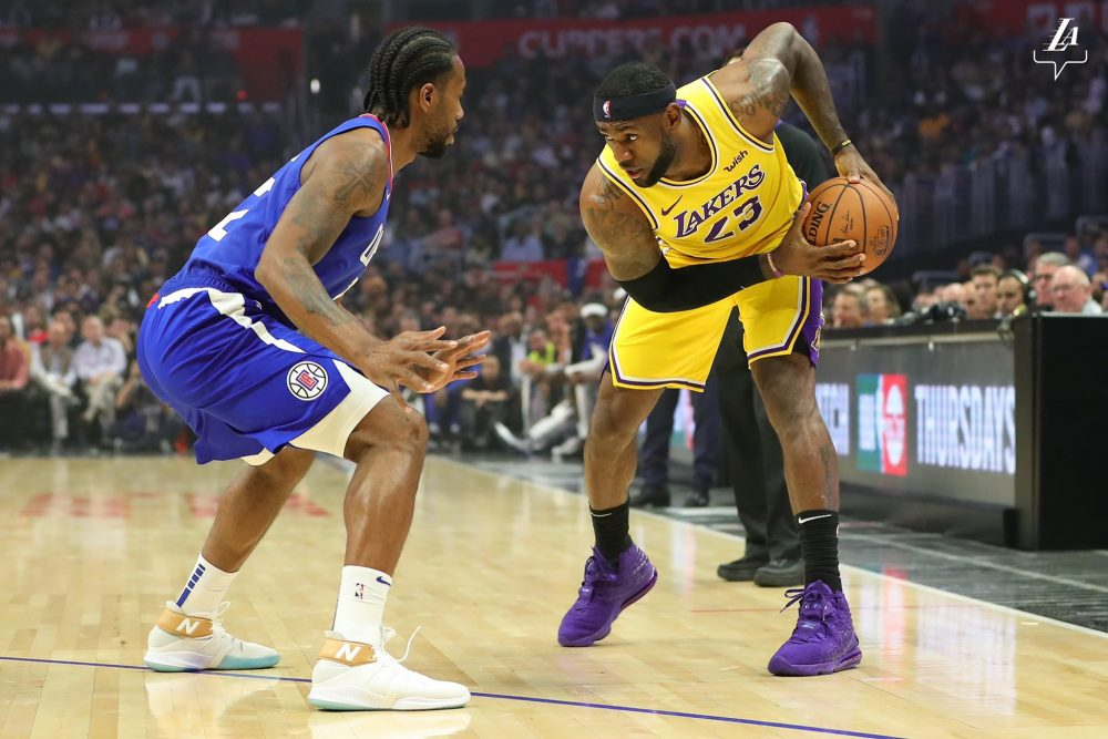 LeBron James - Kawhi Leonard - Los Angeles Lakers - Los Angeles Clippers