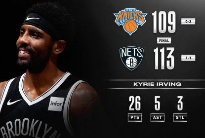 No clássico de Nova York, Irving decide e Nets vencem os Knicks - The Playoffs
