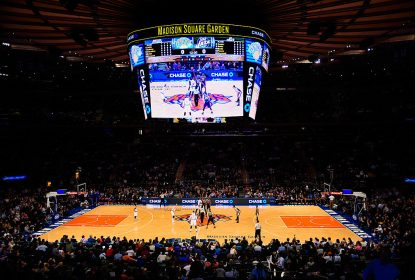 NEW YORK, NY - NOVEMBER 14: Fans look on during a tip-off between the New York Knicks and Utah Jazz at Madison Square Garden on November 14, 2014 in New York City