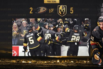 Golden Knights dominam e vencem Ducks em casa - The Playoffs