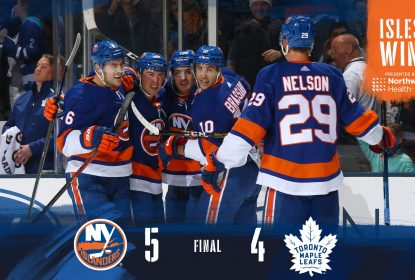 Apesar de susto, New York Islanders vence Toronto Maple Leafs - The Playoffs
