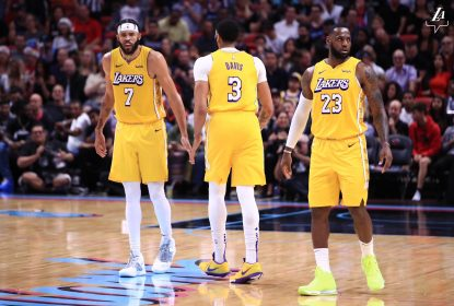 LeBron James e Anthony Davis chamam a responsabilidade e Los Angeles Lakers vence Miami Heat - The Playoffs