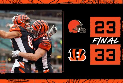 Com a first pick garantida, Bengals vencem o clássico contra os Browns - The Playoffs