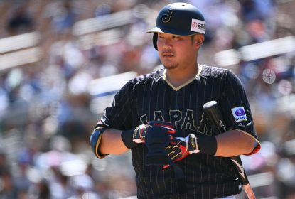 GLENDALE, AZ - MARCH 19: Yoshitomo Tsutsugo #25 of Japan is seen during the exhibition game between Japan and Los Angeles Dodgers at Camelback Ranch on March 19, 2017 in Glendale, Arizona
