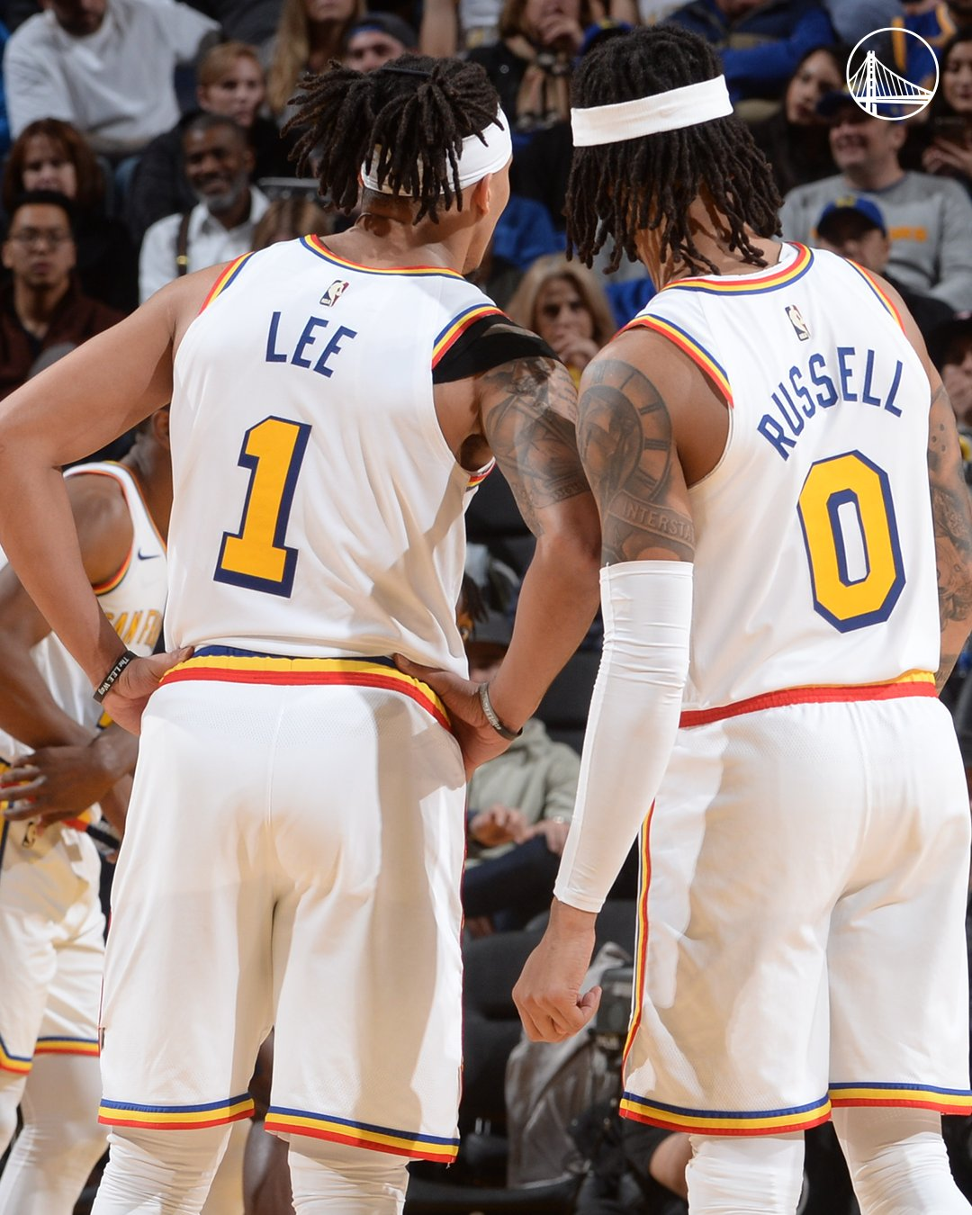 Damion Lee - D'Angelo Russell - Golden State Warriors - Denver Nuggets