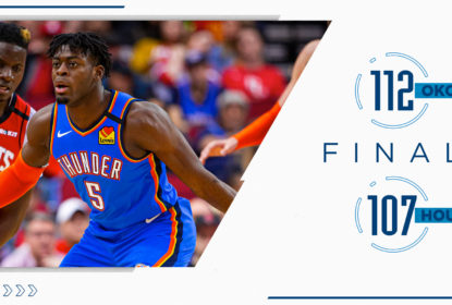 Oklahoma City Thunder reage no fim e vence o Houston Rockets - The Playoffs