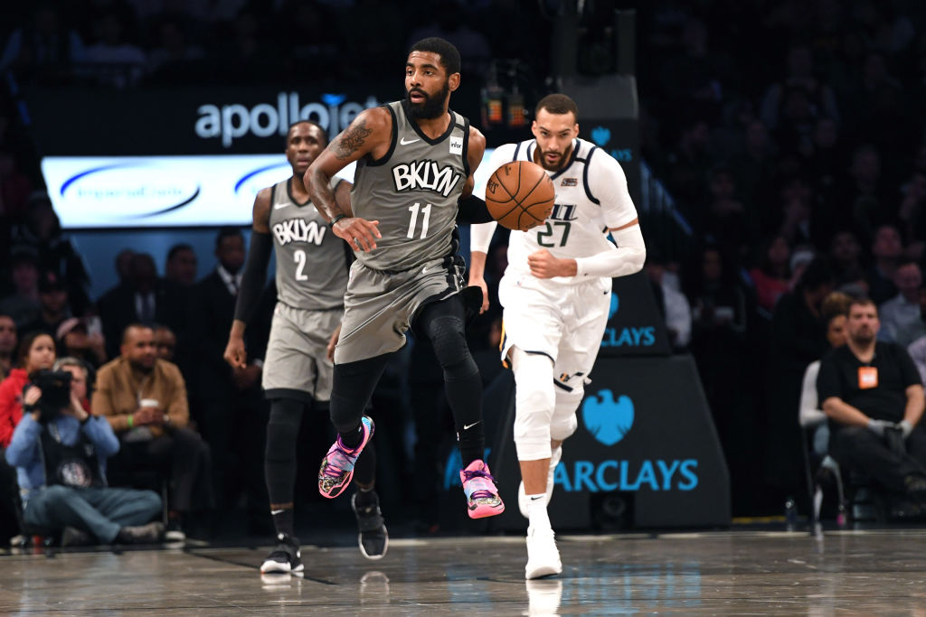 NEW YORK, NEW YORK - JANUARY 14: Kyrie Irving #11 of the Brooklyn Nets in action against the Utah Jazz at Barclays Center on January 14, 2020 in New York City