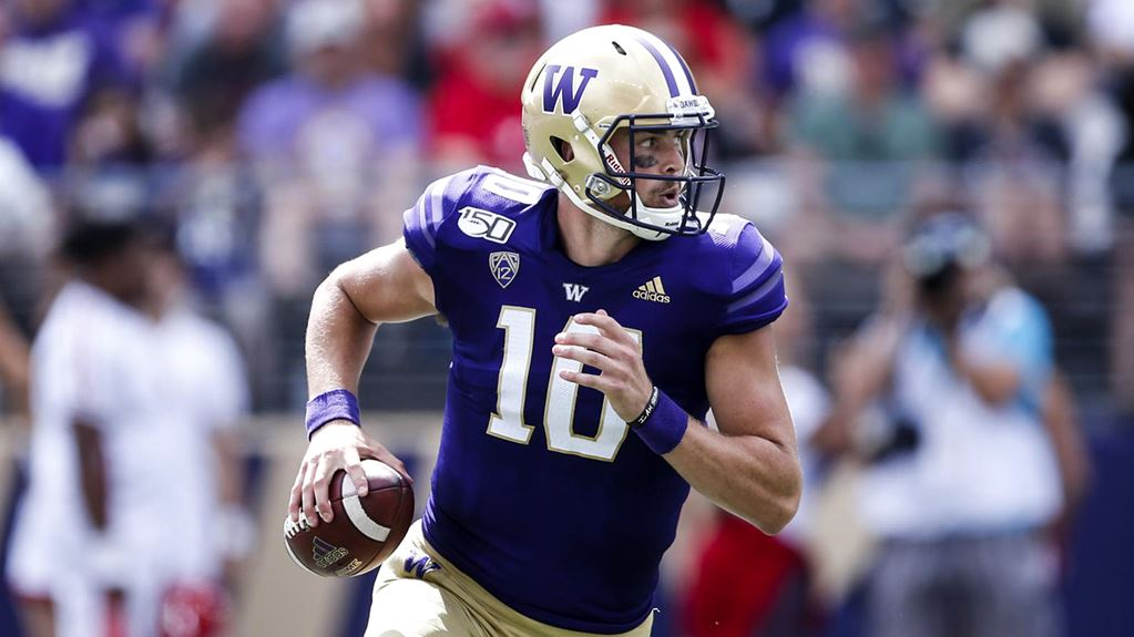 Quarterback de Washington Jacob Eason Draft NFL 2020