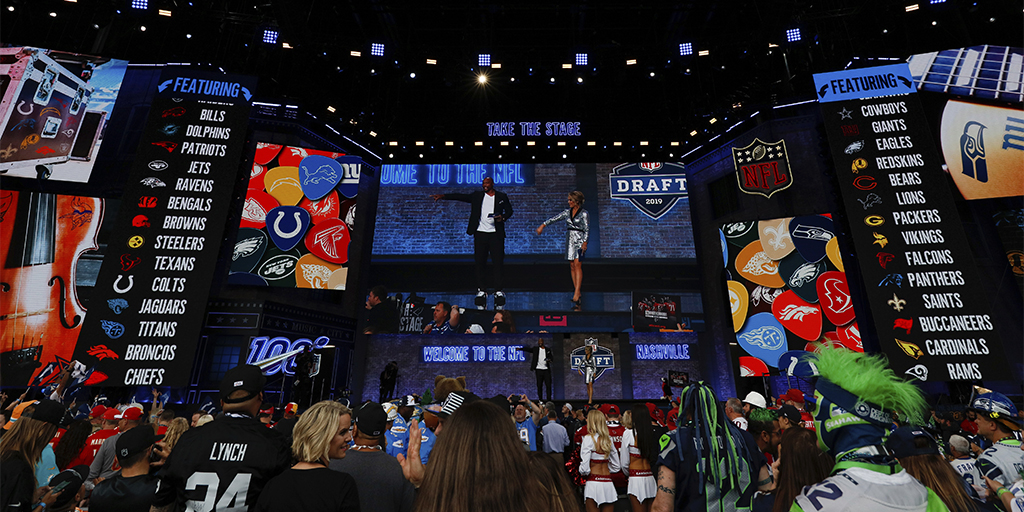 Palco do Draft da NFL de 2019