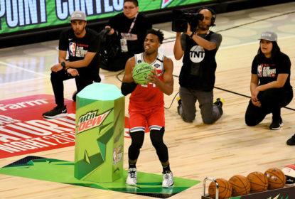 CHICAGO, ILLINOIS - FEBRUARY 15: Buddy Hield #24 of the Sacramento Kings attempts a shot in the 2020 NBA All-Star - MTN DEW 3-Point Contest during State Farm All-Star Saturday Night at the United Center on February 15, 2020 in Chicago, Illinois