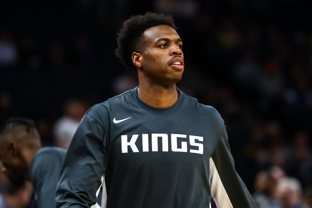 MINNEAPOLIS, MN - JANUARY 27: Buddy Hield #24 of the Sacramento Kings looks on prior to the start of the game against the Minnesota Timberwolves at Target Center on January 27, 2020 in Minneapolis, Minnesota. The Kings defeated the Timberwolves 133-129 in overtime