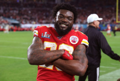 MIAMI, FLORIDA - FEBRUARY 02: Damien Williams #26 of the Kansas City Chiefs celebrates against the San Francisco 49ers in Super Bowl LIV at Hard Rock Stadium on February 02, 2020 in Miami, Florida