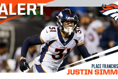 Broncos colocam franchise tag em safety Justin Simmons - The Playoffs