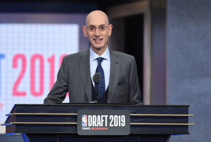 NEW YORK, NEW YORK - JUNE 20: NBA Commissioner Adam Silver speaks during the 2019 NBA Draft at the Barclays Center on June 20, 2019 in the Brooklyn borough of New York City