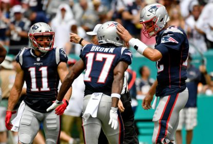 Antonip Brown e Tom Brady