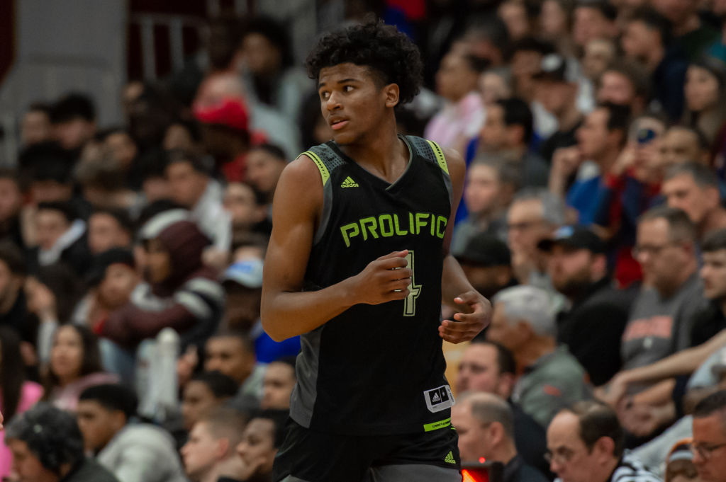 SPRINGFIELD, MA - JANUARY 19: Prolific Prep Crews guard Jalen Green (4) is pictured during the first half of the Spalding Hoophall Classic high school basketball game between the Prolific Prep Crew and La Lumiere Lakers on January 19, 2020 at Blake Arena in Springfield, MA