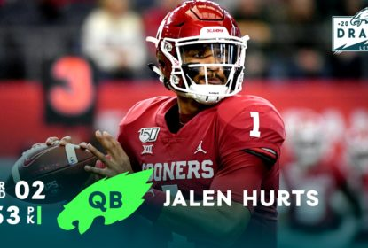 Novo quarterback do Philadelphia Eagles Jalen Hurts