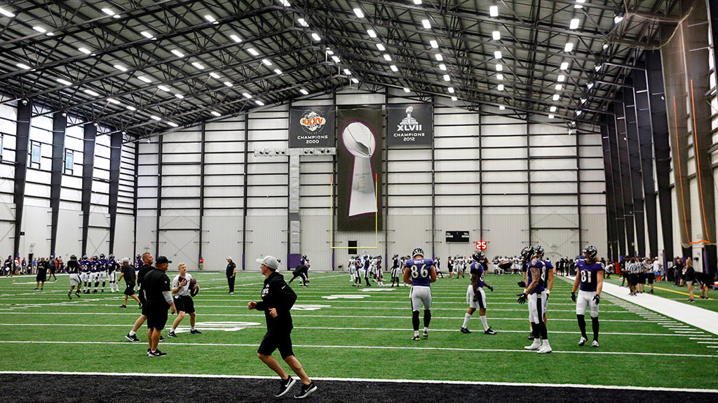 NFL Baltimore Ravens team training facilities