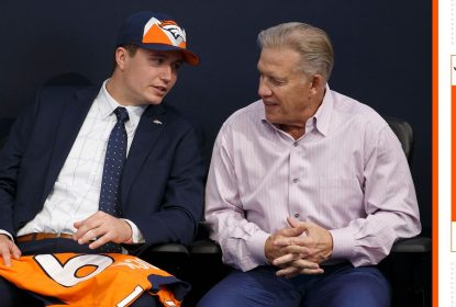 Quarterback Drew Lock e general manager John Elway do Denver Broncos