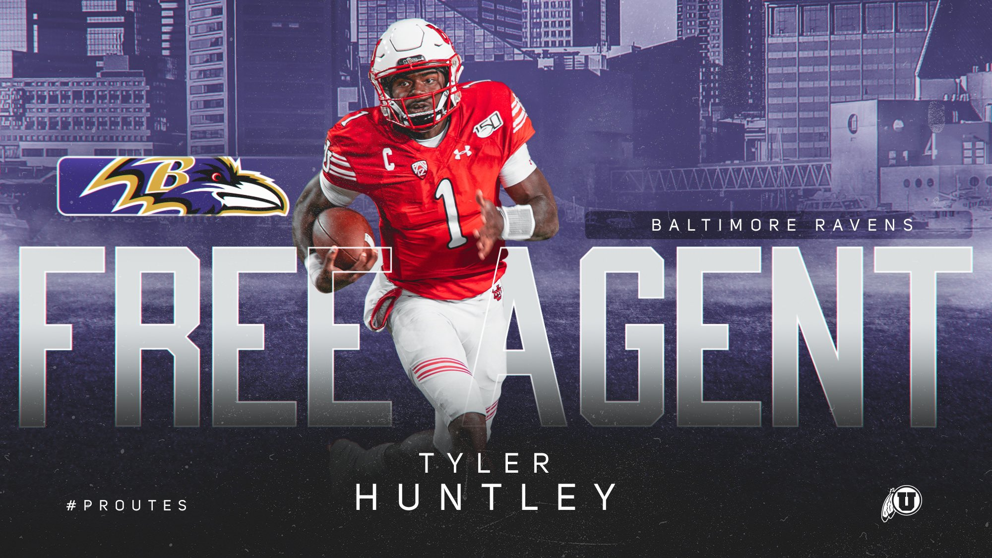 Baltimore Ravens contrata quarterback de Utah Tyler Huntley