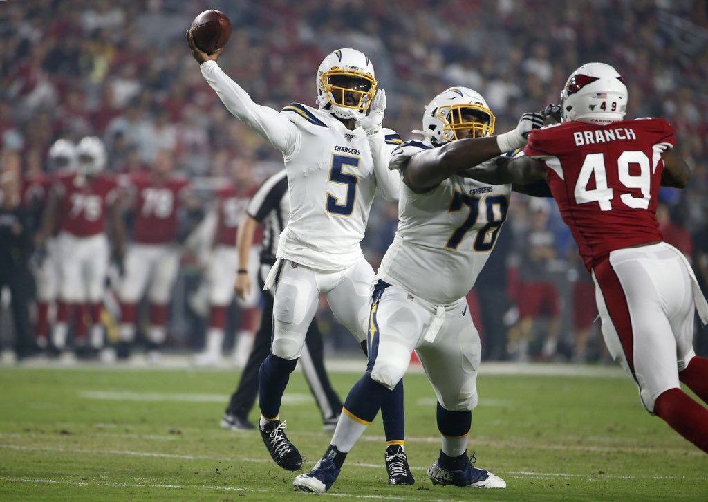 Tyrod Taylor QB Los Angeles Chargers
