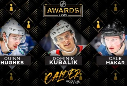 NHL anuncia finalistas do troféu Calder Memorial 2020 - The Playoffs