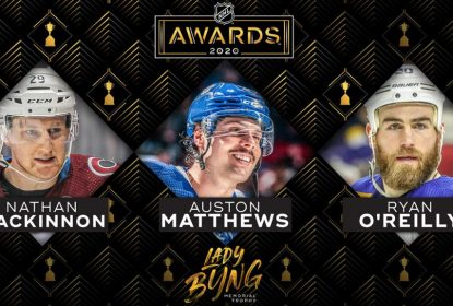 MacKinnon, Matthews e O'Reilly são finalistas do Lady Bing Trophy - The Playoffs
