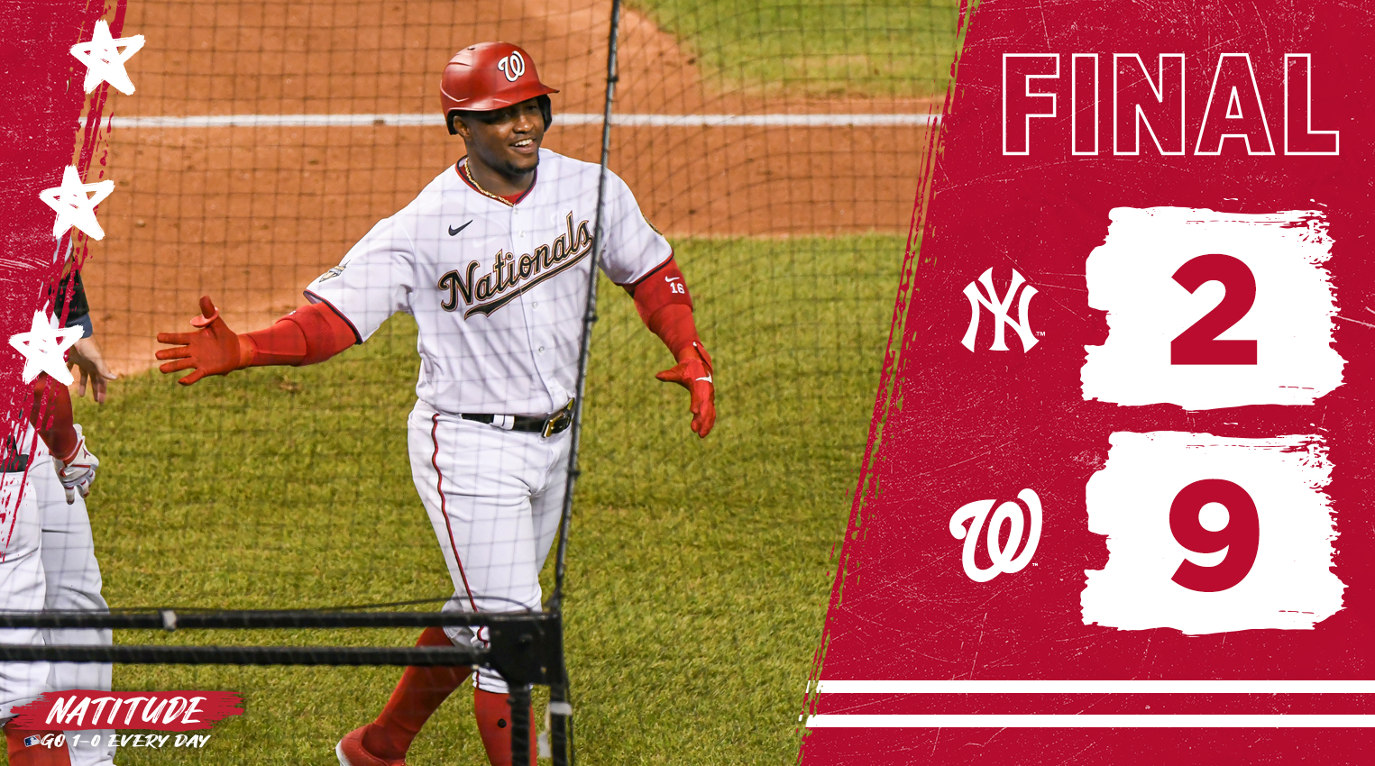 Victor Robles brilha e Washington Nationals vence New York Yankees