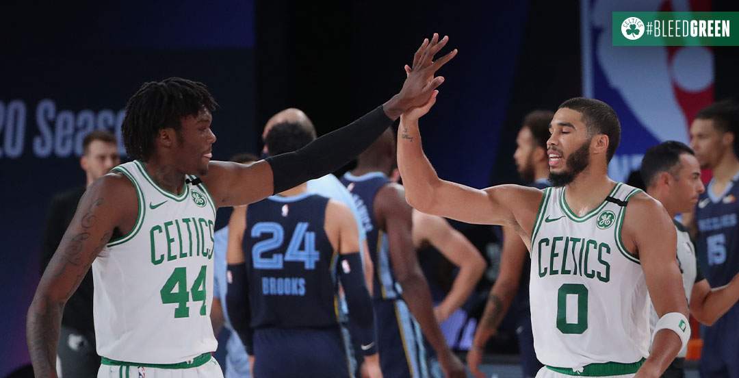 Boston Celtics domina partida e derrota Memphis Grizzlies