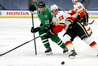 Khudobin fecha o gol e Stars vencem Flames no jogo 5 - The Playoffs