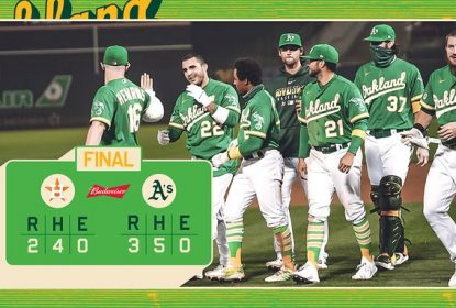 Oakland Athletics volta a vencer Houston Astros e dispara na liderança da AL West - The Playoffs