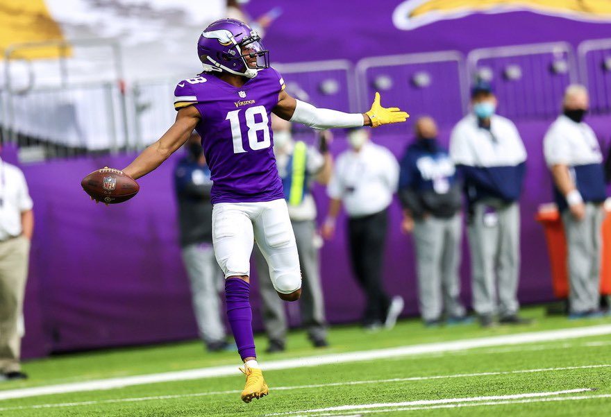 Justin Jefferson - Minnesota Vikings Fantasy Football waiver wire