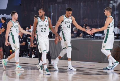 Antetokounmpo sai machucado, Middleton resolve e Bucks vencem Heat na prorrogação - The Playoffs