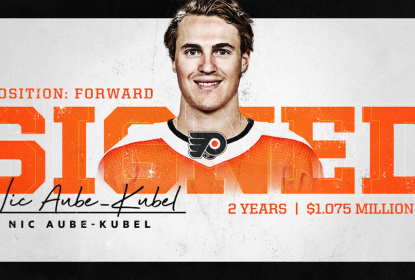 Nicolas Aube-Kubel renova por 2 anos com os Flyers - The Playoffs