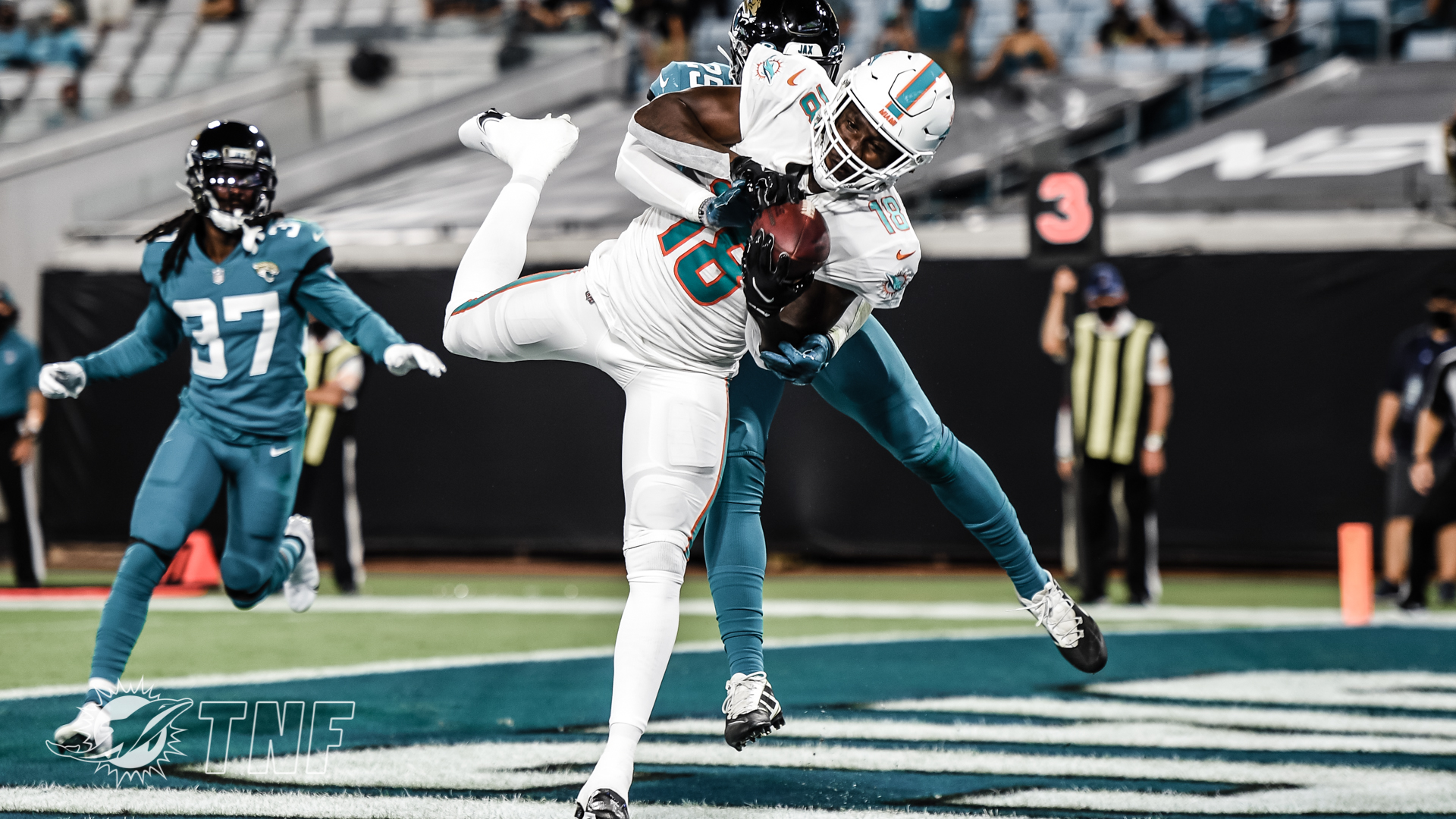 Preston Williams - Miami Dolphins versus Jacksonville Jaguars