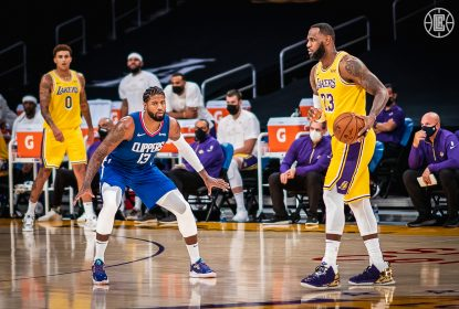 Clippers 'carimbam' faixa dos Lakers com Paul George decisivo - The Playoffs