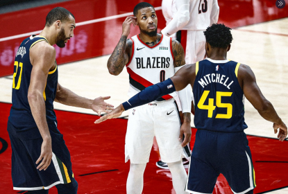Com Rudy Gobert dominante, Utah Jazz vence Portland Trail Blazers - The Playoffs