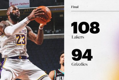 LeBron flerta com triple-double e Lakers vencem Grizzlies - The Playoffs