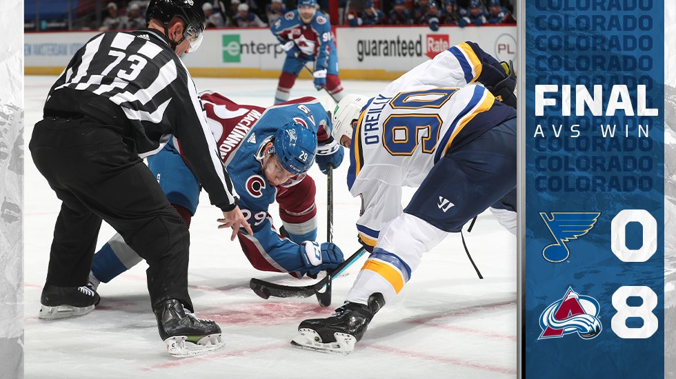 Tirando proveito do power play, Avalanche goleia Blues no Colorado